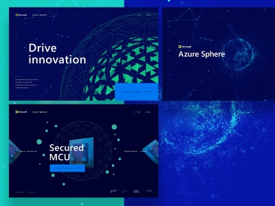Azure Sphere microsite mainpage design homepage web webdesign website ux ui 3d webgl microsoft
