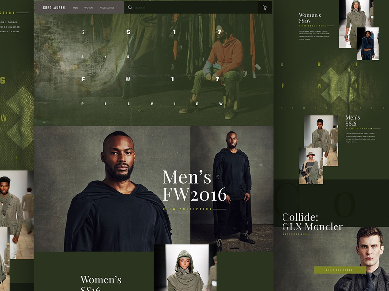 Greg Lauren Website Redesign branding products design web webdesign website ux ui ecommerce homepage clothing fashion