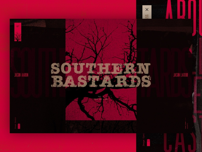 Southern Bastards Concept graphic novels comics comic books series shows movies animation microsite mainpage design web webdesign website ux ui