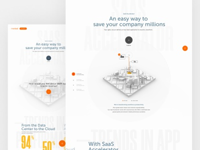 Riverbed SaaS Accelerator 3d animation animation 3d microsite mainpage homepage design web webdesign website ux ui saas website saas design