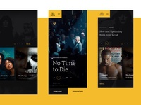 MGM microsite mainpage design homepage movies app mgm webdesign website ux ui 007 james bond movies
