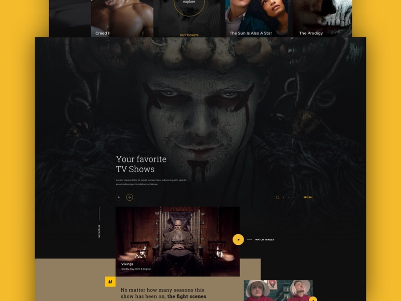 MGM vikings hollywood movie movies james bond design homepage web webdesign website ux ui