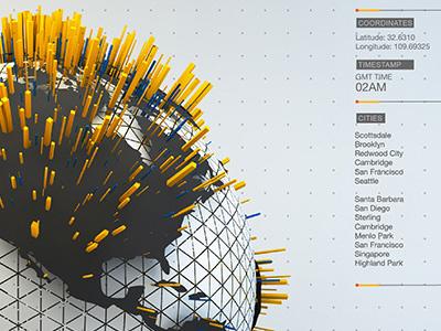 WebGL Infographics responsive web globe canvas c4d webservices 3d infographics webgl