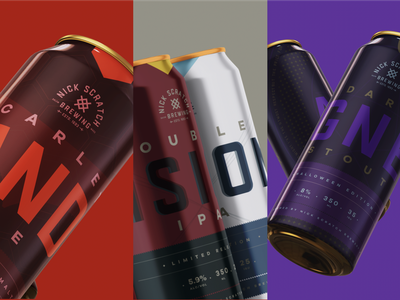Nick Scratch Brewing 😉 packaging ipa stout pietro agnes marvel vision wanda label brewery can beer design branding logo