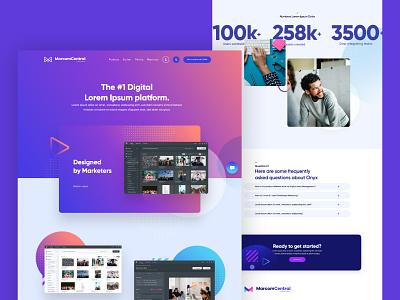 MarcomCentral saas app brandhub hub storage data colorful clean logo branding design web homepage webdesign website ux ui