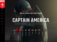 Marvel / Civil War Content Hub Concept