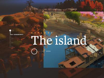 The Witness Website web design ux ui interactive website video game game