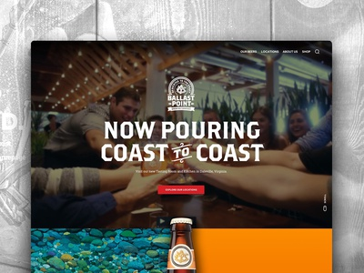 Ballast Point Website Redesign