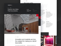 Vocon Architecture Concept Homepage