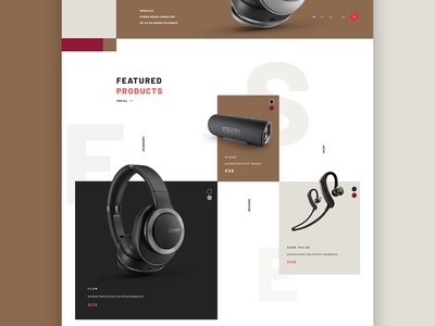 Product grid . Cleer Homepage Concept