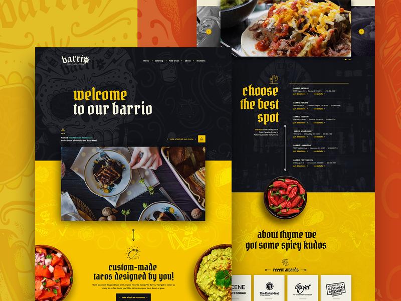 Barrio Tacos . Website Design webdesign ux ui website builder mainpage ohio menu order homepage website restaurand food mexican food burritos tacos barrio cleveland