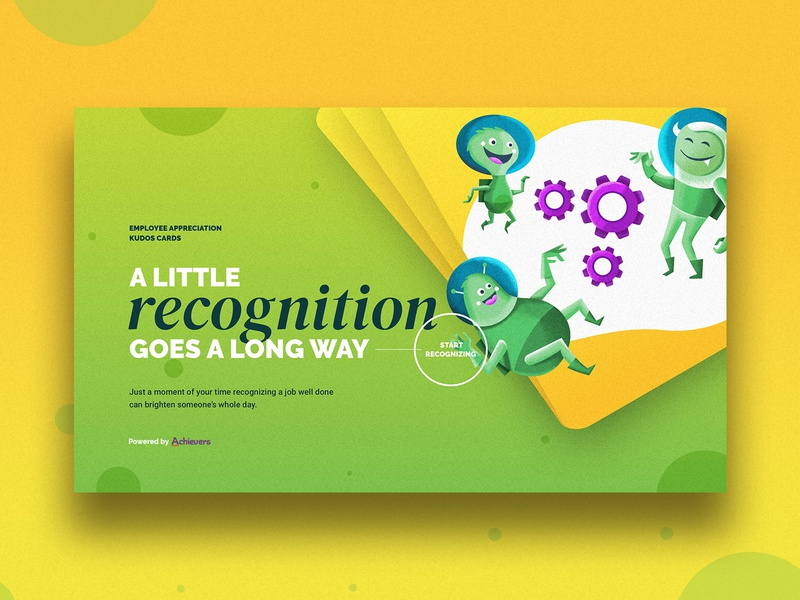 Achievers . Employee Appreciation Cards V0.1 webdesign illustration landingpage homepage mainpage main ux web ui cards hr recognition