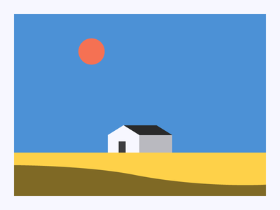 Prairie House  design graphic art pasture farm home house illustration vintage lingo