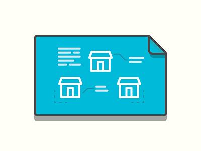 Blueprint architecture community home build design blue print illustration