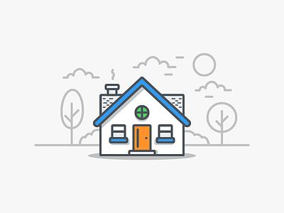 Property real estate property design illustration house