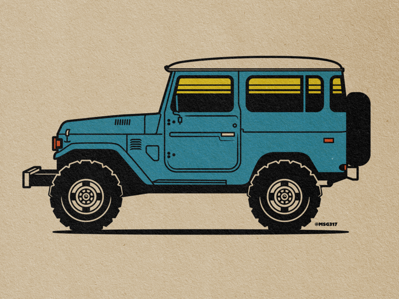 Toyota FJ40 Illustration automobile off road offroad msg317 illustration 4x4 landcruiser fj40 toyota