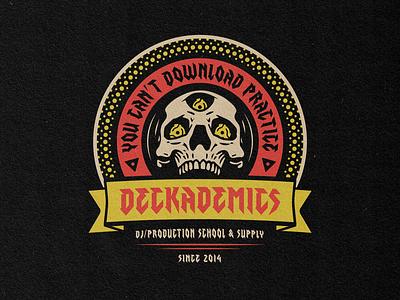 Deckademics Skull Lockup platter turntable 1200 technique beats metal hiphop produciton music dj deejay vinyl adapter 45 skull msg317