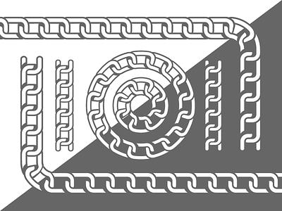 Chain Pattern Brush graphic design for sale vector pattern link chain brush illustrator adobe illustrator