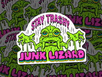 Junk Lizard Sticker