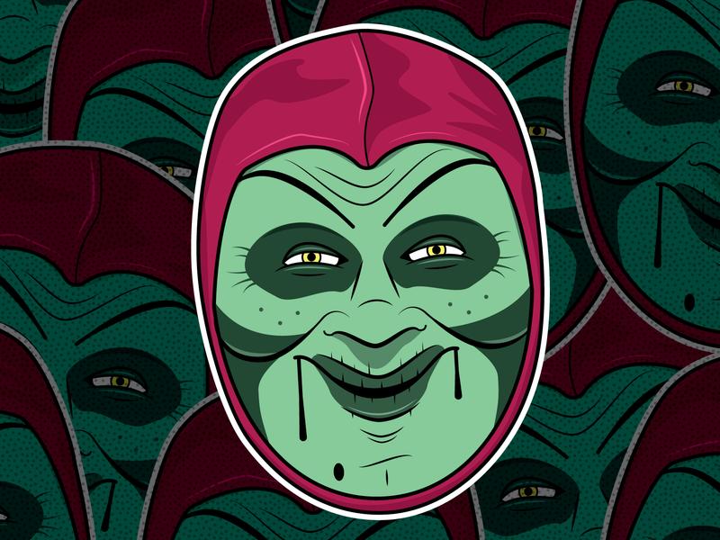 Sammy Terry stickers wttv4 retro indianapolis indiana halloween horror movies horror illustration msg317