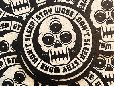 Coasters! coaster design coaster thirdeye skull illustration msg317