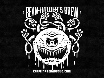 Bean-Holder's Brew Illustration msg317 character vector espresso dnd beholder coffee bean monster rpg kobold caffeine coffee