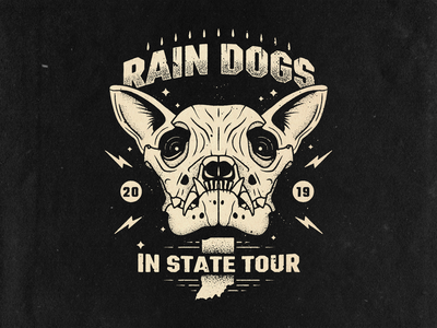 Rain Dogs Band Tee msg317 music graphic one color indiana retro illustration art design tshirt design band skull dog