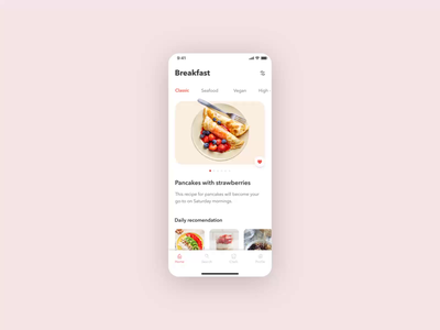 MakeAmeal app mobile aftereffects app ae animation food meal recipe android ios motiongraphics motion design design uiux ux ui
