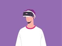 Virtual Reality virtual reality guy headset virtual reality vr character boy