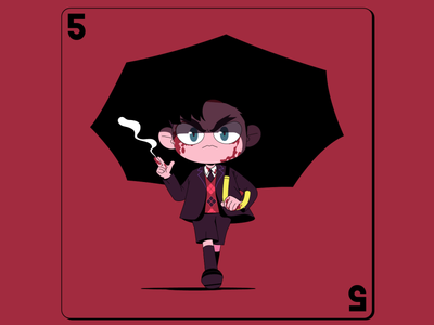 Number 5 - The umbrella academy theumbrellaacademy netflix number 5 boy charater design flat character illustration 2d