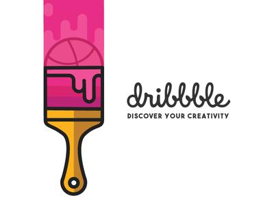 Dribbble Paintbrush