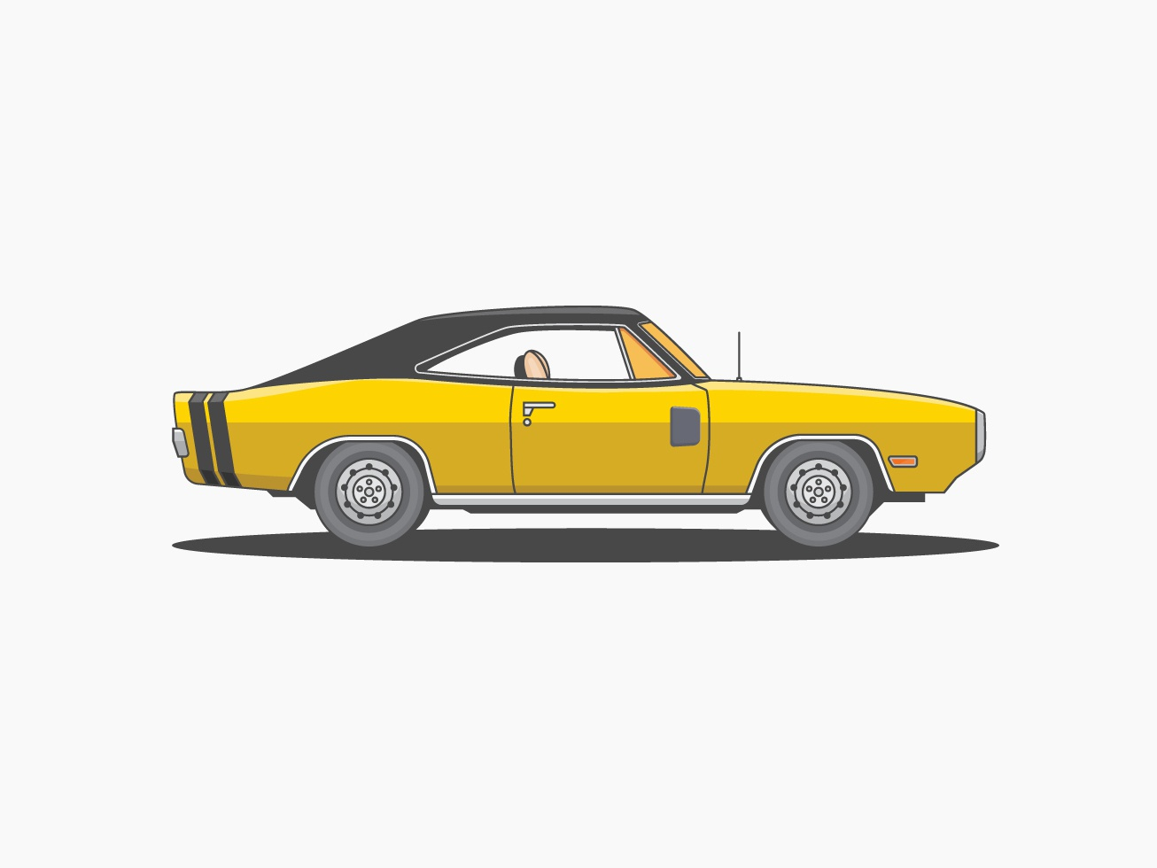 Dodge Classic car vector design illustration