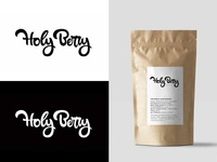 Holy Berry lettering logo