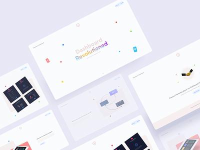 Empowers Dash - Landing design gradient colorful light theme webdesign landing web ux ui  ux uiux uidesign ui