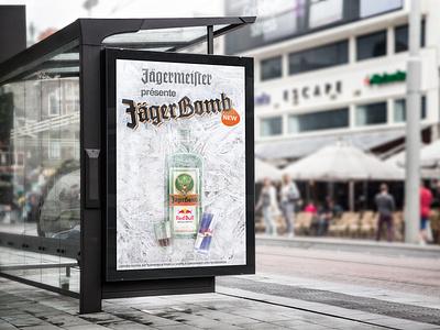 Jägermeister - Commercial drinks print bus publicity ad commercial jägermeister