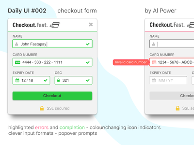 Daily UI 002 - checkout form invisionstudio ux ui form payment checkout dailyui