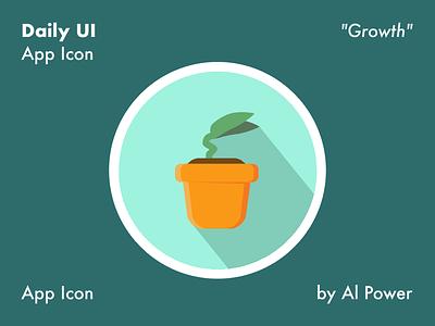 005 DailyUI - App Icon nature plant growth icon appicon dailyui