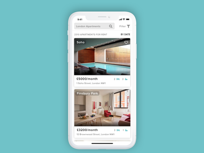 Apartment List - Mobile Design apartments listing mobile design