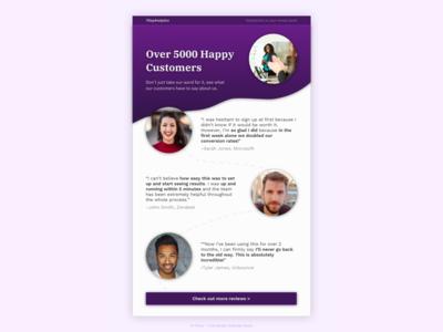 Testimonial page design