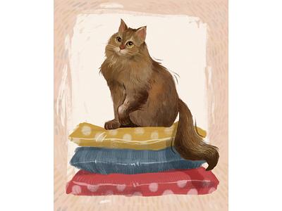 Sonya the cat animal illustration animal cute pets pet cat illustration