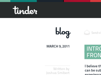 Internal Blog Layout
