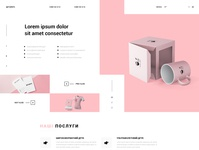 """Page design for the printing company """"Starti"""""""