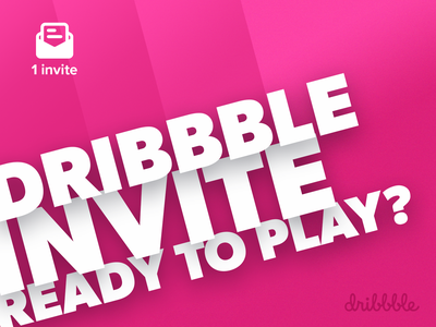 Dribbble Invitation (May 2020) clean design dribbble invites invite giveaways giveaway