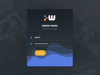 Login Screen for Admin Panel