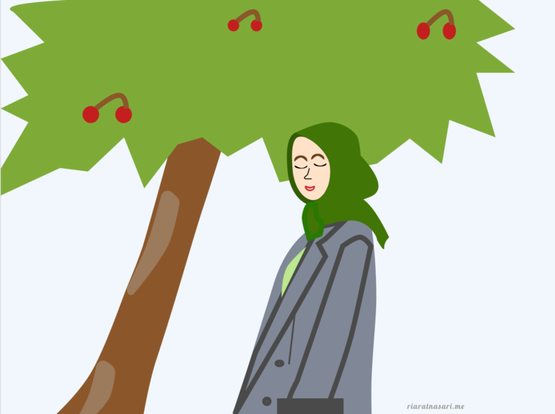 Woman Under the Tree