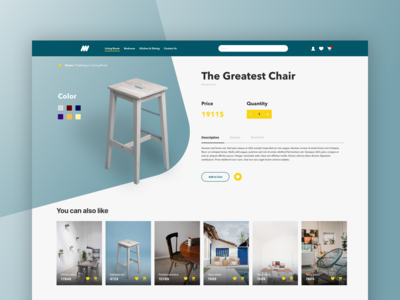 Furniture Shop - Product Page
