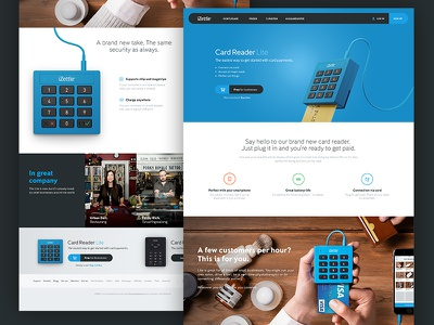 Product pages izettle web site card reader product buy hero billboard meny users button 3d