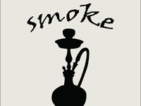 a logo concept for a hookah lounge
