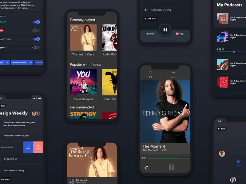 Music Streaming App by Ankit Sharma on Dribbble
