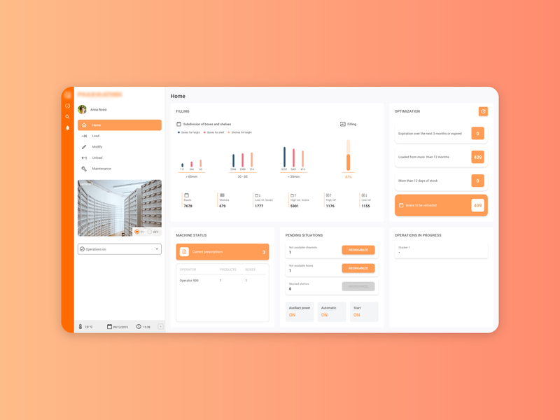 Pharmacy Dashboard mockup ux ui design pharmacy web software warehouse tablet dashboard data medicine app